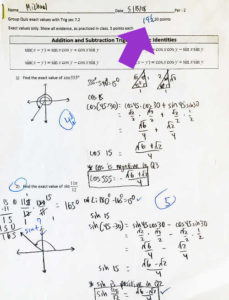 91% in Pre-Calculus